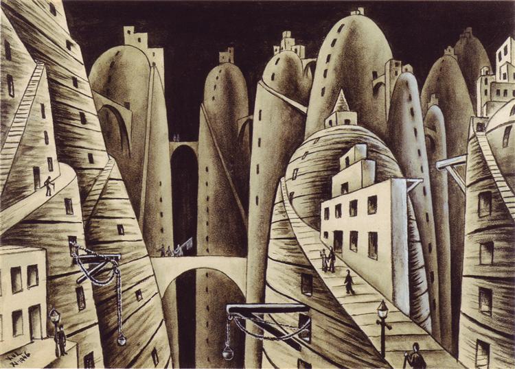 Ciudá y abismos, 1946 - Xul Solar