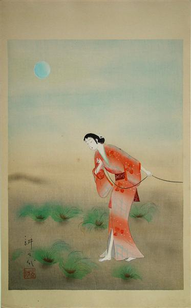 The Heroine Koman in the play Tanba Yosaku, 1926 - Yamamura Toyonari
