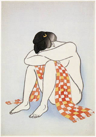 Woman with Scarf, 1924 - Yamamura Toyonari