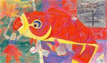 Fish Kite - Ясуо Куниёси