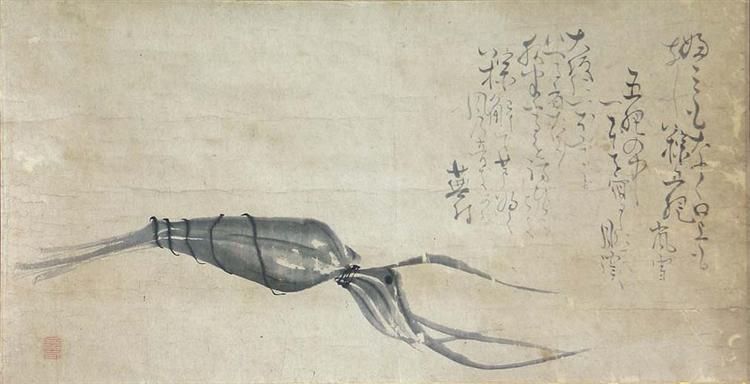 Chimaki by Matsumura Goshun (painting) and Yosa Buson (calligraphy) - Yosa Buson