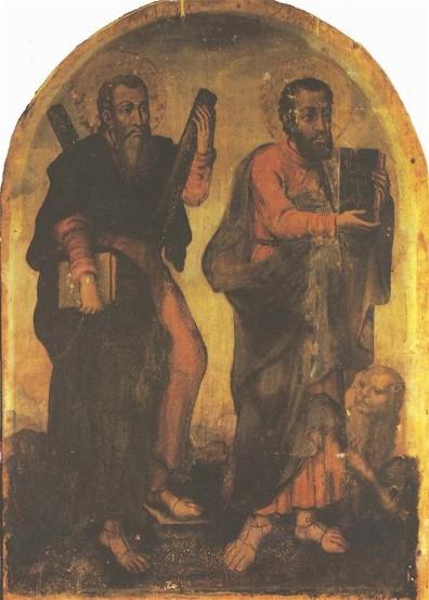 Icon of Apostles Andrew and Mark - Yov Kondzelevych