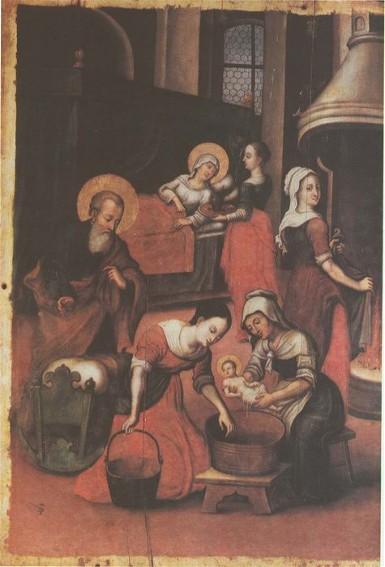 Icon The Nativity of Virgin Mary (fragment) - Yov Kondzelevych