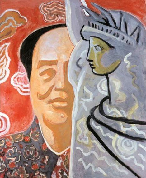 Mao in New York, 1995 - Yu Youhan