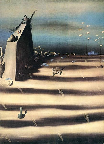 Large Painting Representing a Landscape, 1927 - Yves Tanguy