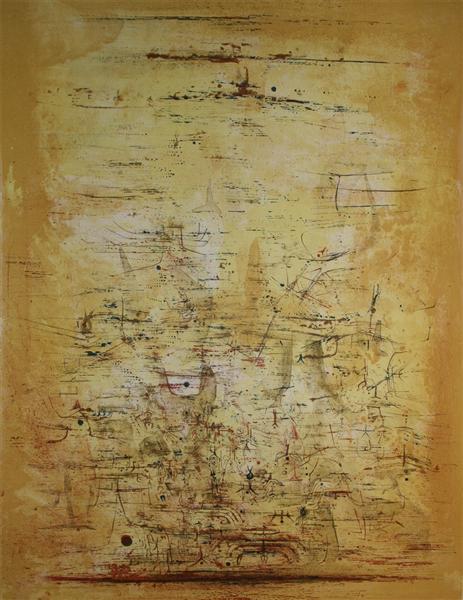 Vol d'oiseaux, 1954 - Zao Wou-Ki