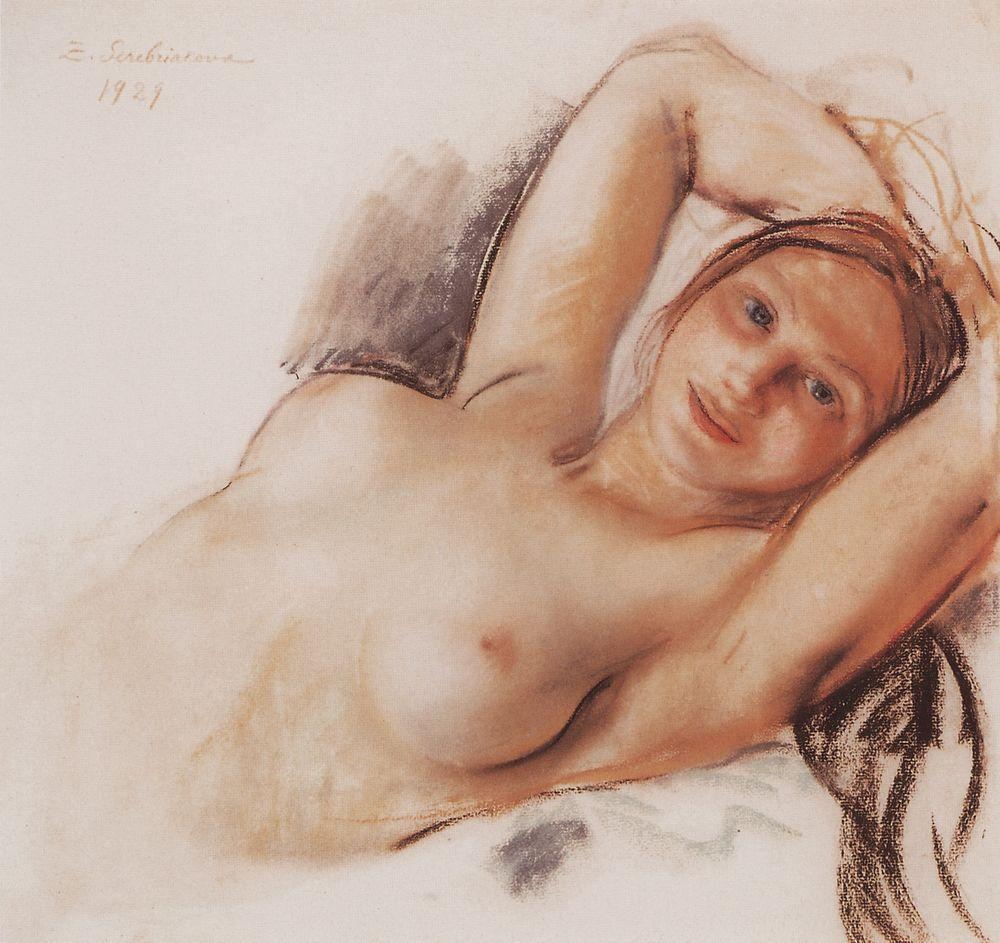 Nude - Zinaida Serebriakova - WikiPaintings.