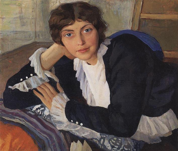 Портрет Лолы Браз, 1910 - Зинаида Серебрякова