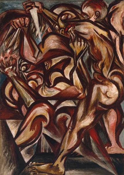 Man with Knife, 1938 - 1940 - Jackson Pollock