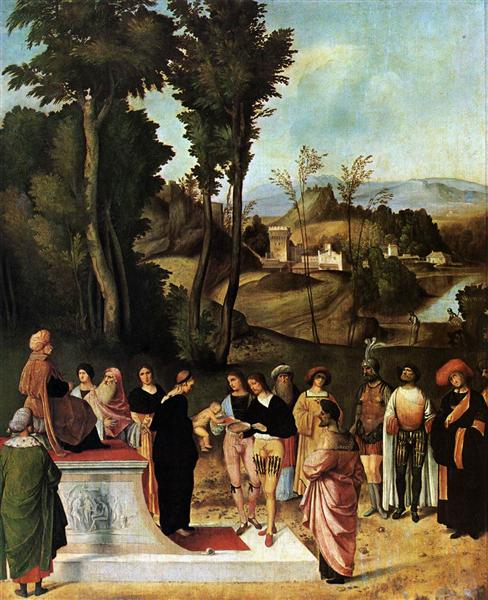 Moses Undergoing Trial by Fire, 1502 - 1505 - Giorgione
